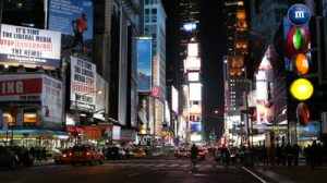 stock-footage-new-york-city-usa-march-entertainment-district-shopping-street-fashion-modern-times